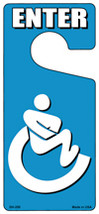 Handicap Bathroom Enter Novelty Metal Door Hanger - $12.95