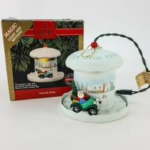 Hallmark Keepsake Ornament 1992 Yuletide Rider Magic Light & Motion Santa Car - $22.16