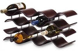 Oenophilia 12 Bottle Wine Rack Holder Espresso Wood Countertop Display B... - $102.91