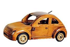PANDA SUPERSTORE Vintage Handmade Wooden car Model Home Furnishing Decoration-Ye - $31.93
