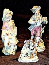 Figurines Boy Girl Couple AA18-1286 Vintage3 piece - $49.45