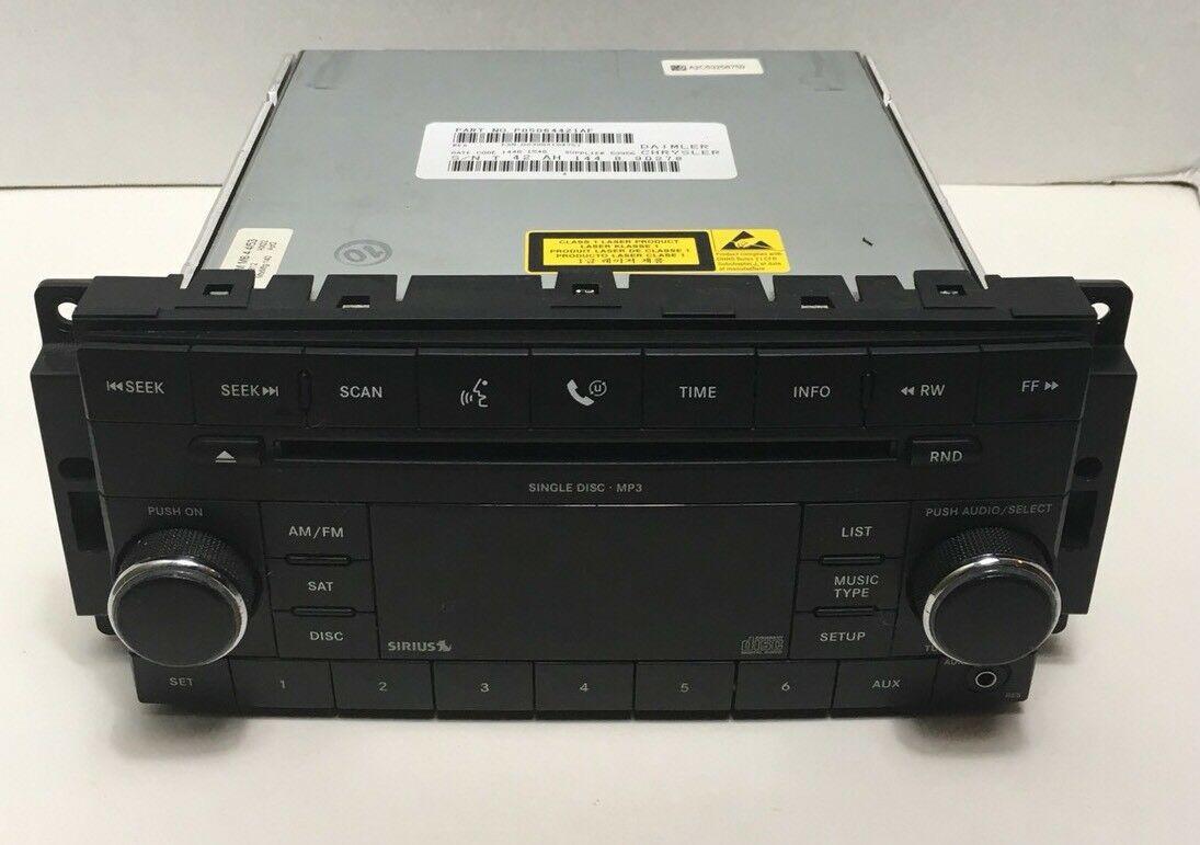 Chrysler Jeep OEM Satellite Single Disc MP3 CD Radio Tuner 08-12 P05064421AF