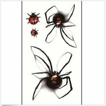 Black Spider 3d Waterproof Temporary Tattoo Stickers - One Sheet image 5