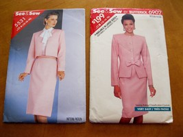 6902 5531  lot 2 sewing patterns formal suit jacket skirt Sizes 12 14 16... - $9.00