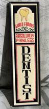 Vintage Needlepoint DENTIST Sign~Custom Framed~Perfect Condition~RARE~Gr... - $296.99