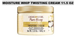 CREME OF NATURE PURE HONEY MOISTURE WHIP TWISTING CREAM 11.5 OZ FOR DRY HAIR
