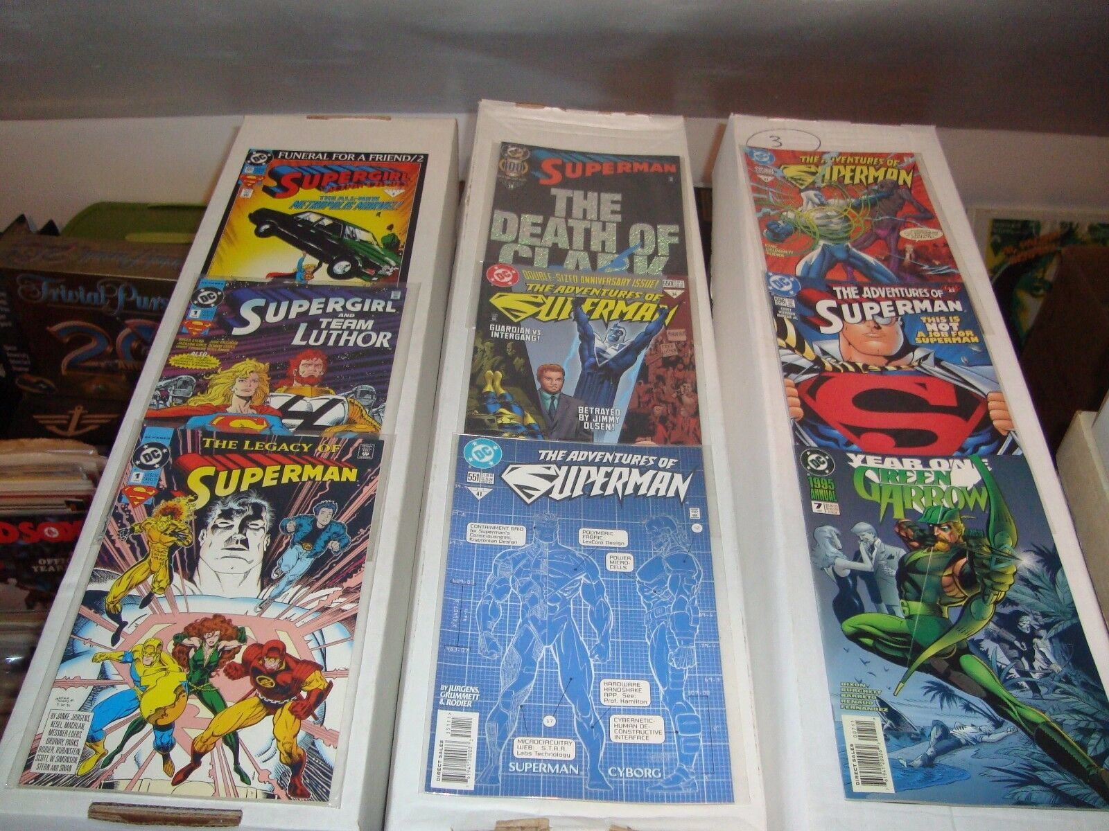 DC Comic Book Lot Of 46 FN - NM Condition Heavy On Batman / Superman