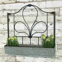 Metal Wall Planter Garden Decorative Box Planter with Metal Design Plant... - $195.95