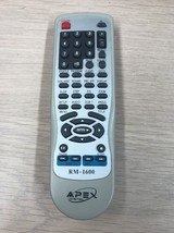 Apex Digital RM-1600 DVD Player Remote Control-Tested And Cleaned           (O7)
