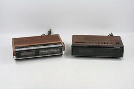 2 Vintage Panasonic RC-6210 GE General Electric 7-4630A AM FM Alarm Cloc... - $18.27