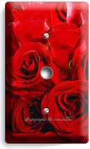 Beautiful Red Roses Bouquet Light Dimmer Cable Wallplate Bedroom Room Home Decor - $9.89