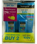 (LOT OF 2) Neutrogena Wet Skin Kids Sunscreen Stick SPF 70+ Exp 09/2021  - $23.33