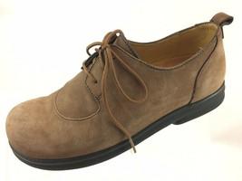 SH32 Birkenstock Footprints EUR 36 US 5.5-6 Narrow Brown Nubuck Leather ... - $39.59