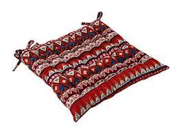 PANDA SUPERSTORE Ethnic Fusion Cushion/Office Cushion/Tatami Cushion(China Red)