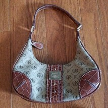 Liz Claiborne Brown and Tan Bag Handbag Purse - $14.99