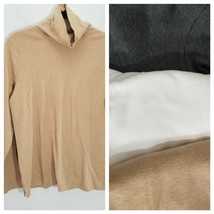 Lands End Turtleneck Blouse Top Womens PL Shaped Fit Lot of 3 Long Sleev... - $27.08