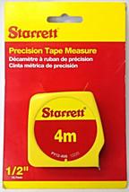 """Starrett PY12-4M6 4m Non-Locking Push-Pull Precision Tape Measure 1/2"""" - $3.47"""