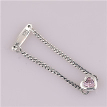 Oe 100 925 sterling silver spirited heart ring pink cz compatible with european jewelry thumb200