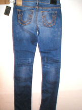 New Womens True Religion Brand Jeans Cora Super T Crock Blue Tide 28 NWT USA image 9