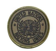 UNITED NATIONS OD OLIVE DRAB EMBROIDERED PATCH - $15.33