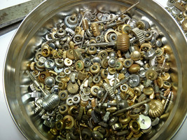 Pocket Watch Crowns stems Large Lots of assorted sizes gold silver color... - $140.29