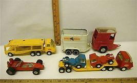 Vintage Steel Tonka Trucks Horse Trailer & Tootsie Transporter Loads + E... - $26.17