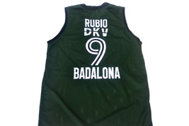 Ricky Rubio #9 Spain Espana Badalona Men Basketball Jersey Green Any Size image 2