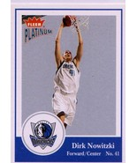 2003-04 Fleer Platinum Dirk Nowitzki Dallas Mavericks - $2.55