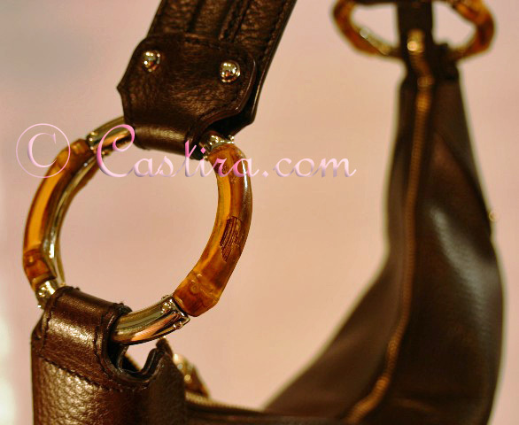 Gucci Brown Leather Hobo Bamboo Rings-tPF member
