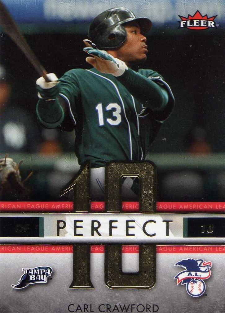 2007 Fleer Perfect 10 Carl Crawford Tampa Bay Rays Red Sox