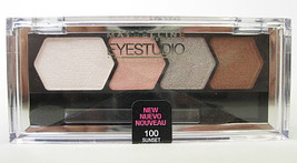 MAYBELLINE EyeStudio Eyeshadow Color Plush Quad, Sunset Seduction 100 N&S - $10.00