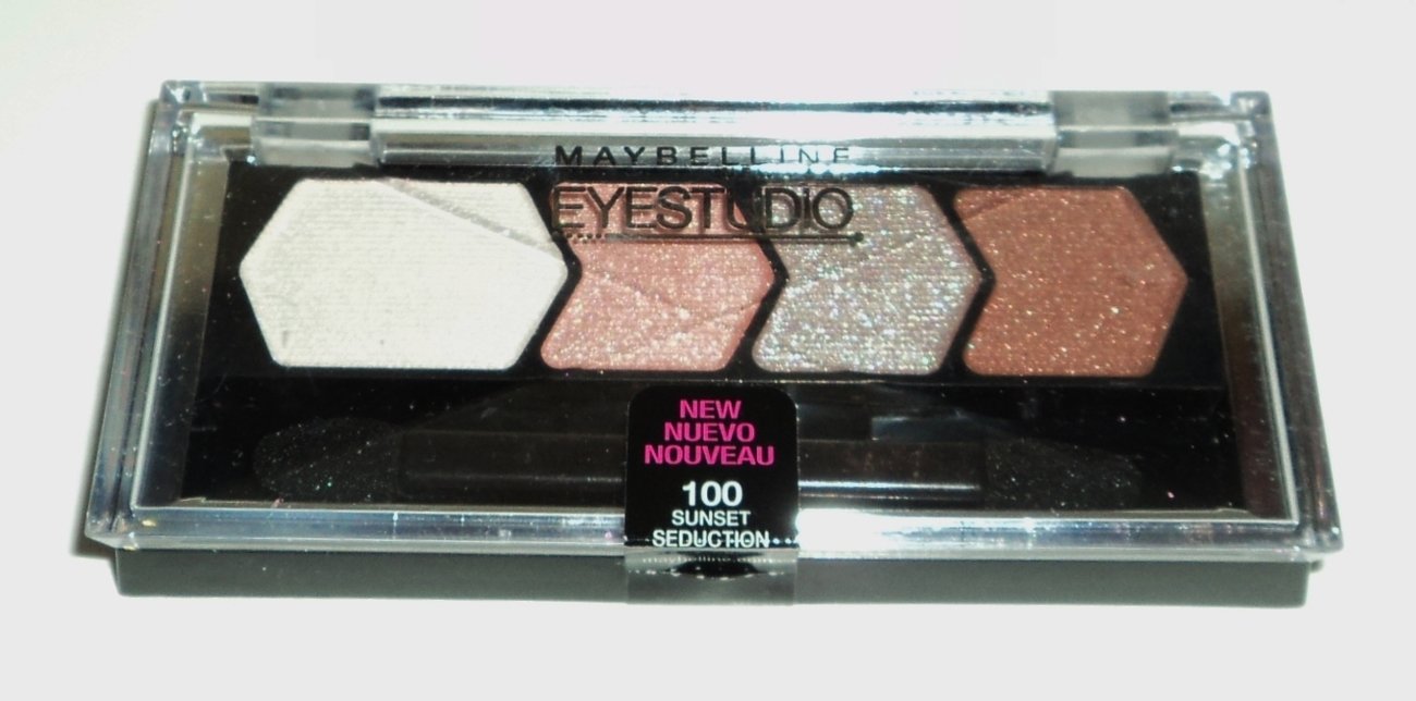 MAYBELLINE EyeStudio Eyeshadow Color Plush Quad, Sunset Seduction 100 N&S