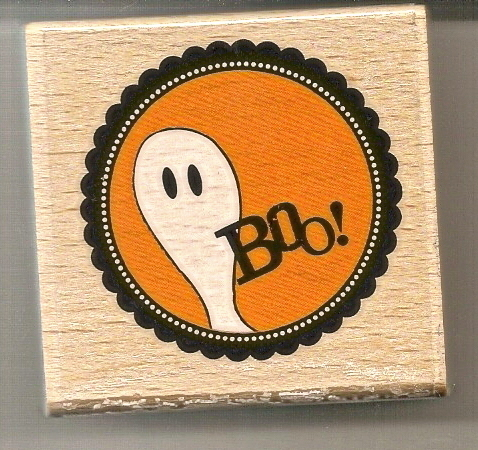 Halloween Stamp BOO by Janet Dunn Studio G  Brand New