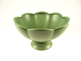 Beautiful Hyalyn Pottery Ribbed Pedestal Compote Bowl or Planter 1950's - $17.99
