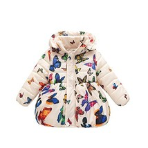 BOBORA Infant Baby Girl Butterfly Pattern Coat Toddler Jacket Outwear 1-... - $42.48