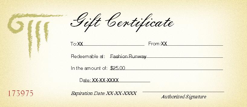 $25 Gift Certificate to Fashion Runway's Booth Bonanza