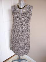Black/Brown Old Navy Tiny Floral Sleeveless Sundress Sz 6 - €13,24 EUR