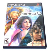 Final Fantasy X-2 PlayStation 2 PS2 Game, Manual, Cover Art, & Case BLAC... - $6.74