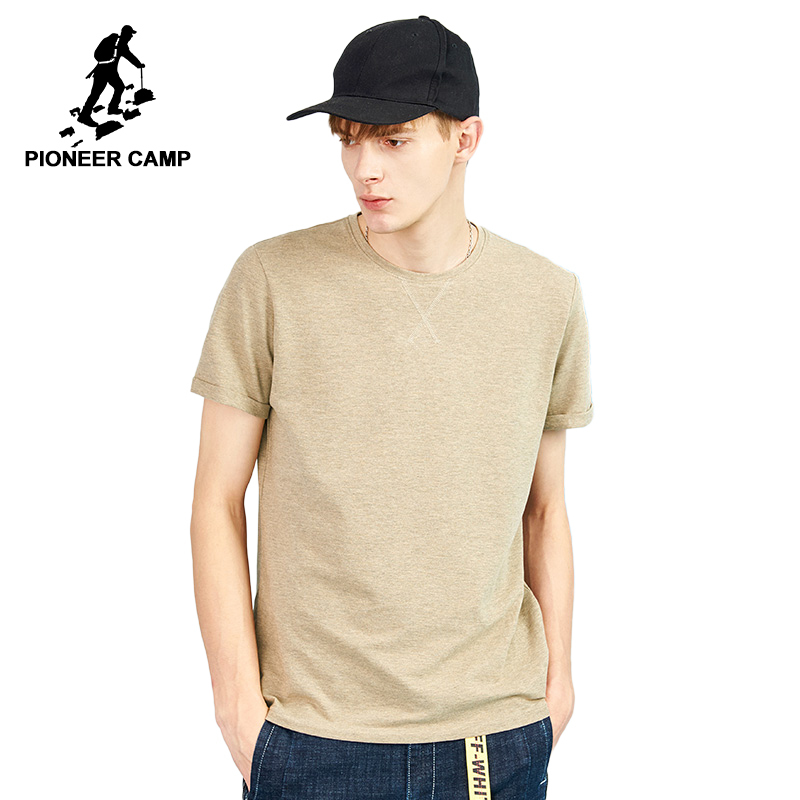 Pioneer Camp New Design Stylish Solid Men T-shirt Brand