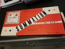 vintage 1976 Summation algebra math educational board game - $23.76