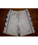 Reebok White Blue All-Star STARS Baggy Thick Silver Basketball Shorts 3x... - $14.99