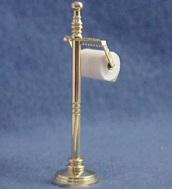 DOLLHOUSE Filled Brass Toilet Paper Stand 1.722/5 Reutter Miniature