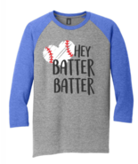 Mens New District Made Gray Blue Raglan 3/4 Sleeve Baseball T Shirt 3XL - $15.95