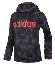 Adidas Boy's Ultimate Fleece Pullover Hoodie, Black Camo, Size S (8 ) - $27.71