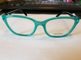 VALENTINO Eyeglasses Frame Italy V2677 442  52-17-135 AQUA/BLACK...BRAND... - $98.01