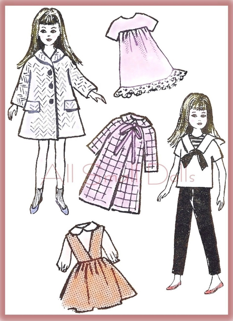 "Primary image for Vintage Doll Clothing Pattern for 9 1/2"" Skipper ~ No. 6"