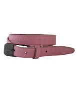 Rocawear Size S Womens Pink Leather Belt  with Rhinestone Buckle - $15.99
