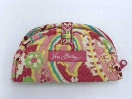 Vera Bradley Capri Melon Small Mini Soft Jewelry Roll Travel Pink Blue G... - $12.99