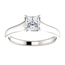 0.50 Carat Ideal Cut Princess Diamond Solitaire Ring in 14k Gold  - $899.00