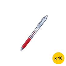 Pentel Feel BX115T 0.5mm Retractable Ballpoint Pens (Pack of 10),Red, BX... - $23.99